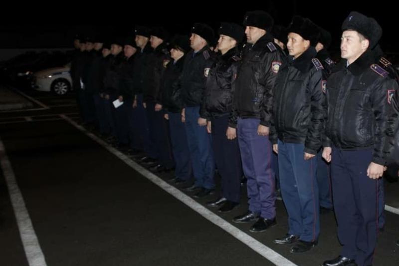 Жамбылские полицейские переходят на усиленный режим несения службы