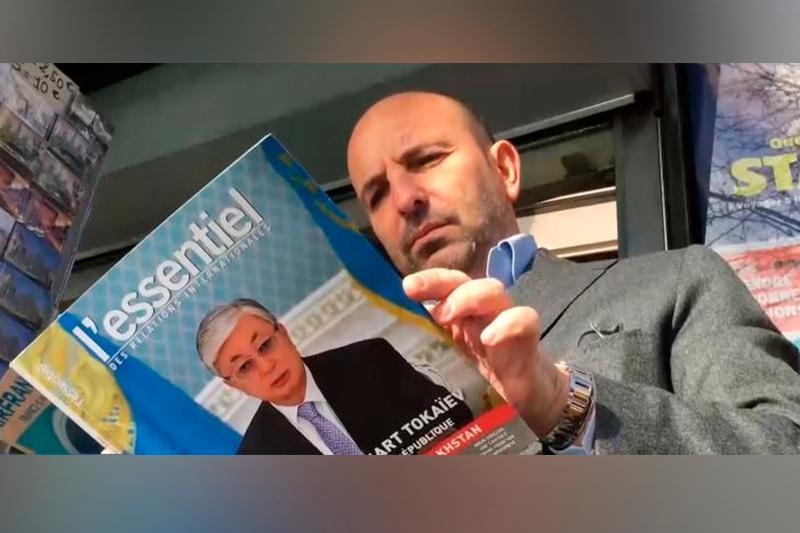 Портрет Касым-Жомарта Токаева появился на газетных киосках по всей Франции