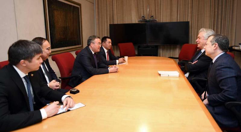 外长同美国分析和金融部门高层举行会晤