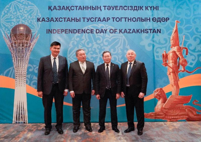 驻蒙使馆在乌兰巴托举行独立日招待会