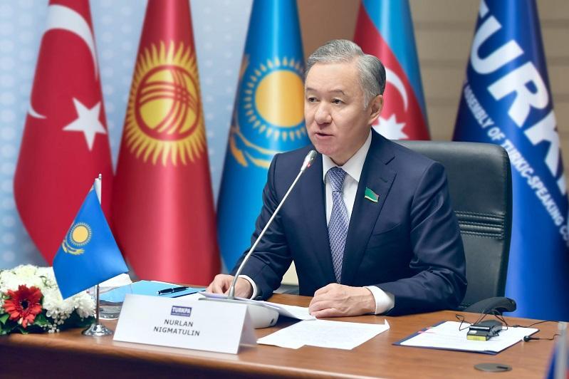 Majilis Speaker attends TurkPA in Baku