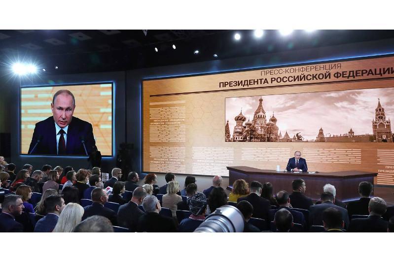 Президент России Владимир Путин провел четырехчасовую пресс-конференцию