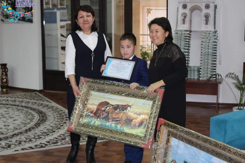 Победители конкурса «Кітап оқып, рухани бай бол!» награжденыв Шымкенте