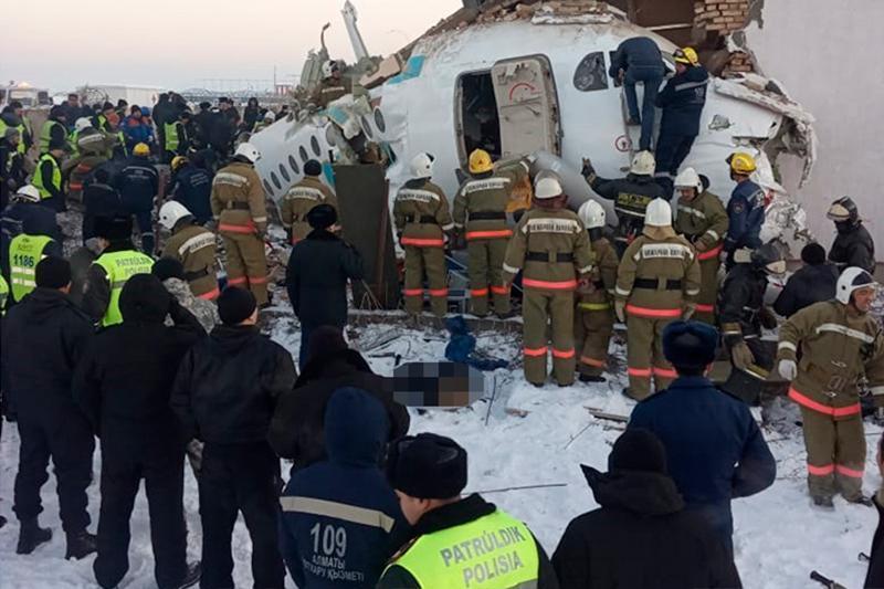 总统及民族领袖就阿拉木图坠机事故表示慰问