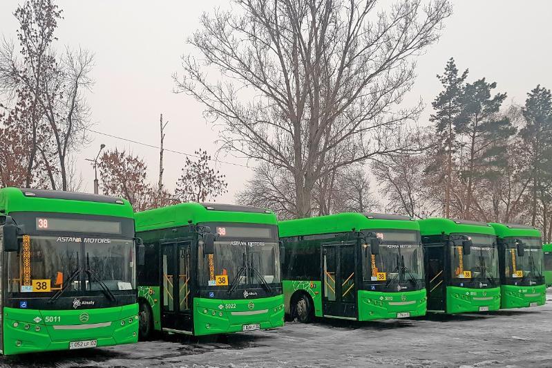 60 экологичных автобусов стандарта Евро-5 выехали на маршруты Алматы