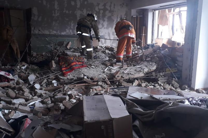 Вспышка газовоздушной смеси произошла в Каскелене
