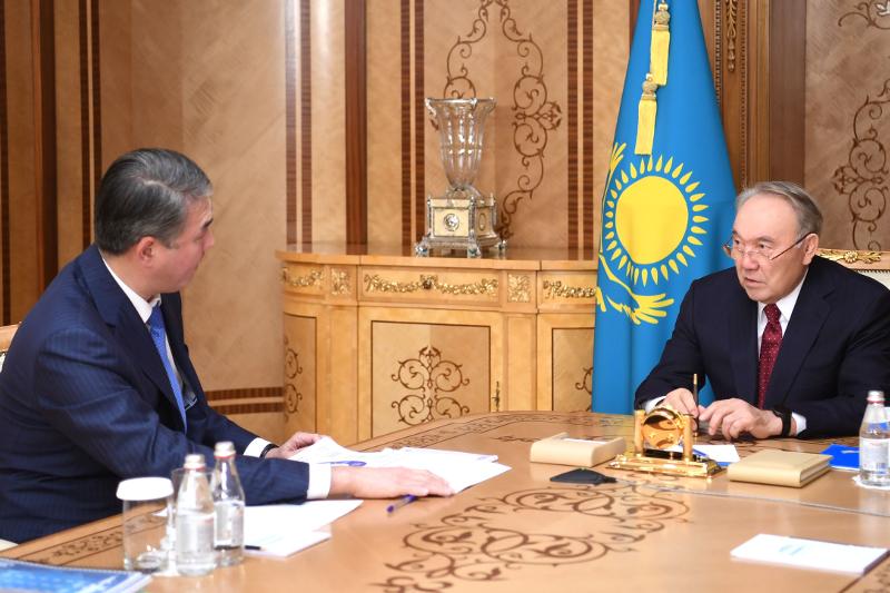 纳扎尔巴耶夫接见首任总统基金会执行董事