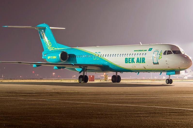 Bek Air áýe kompanııasyna tıesili toǵyz Fokker-100 ushaǵynyń qyzmeti toqtatyldy