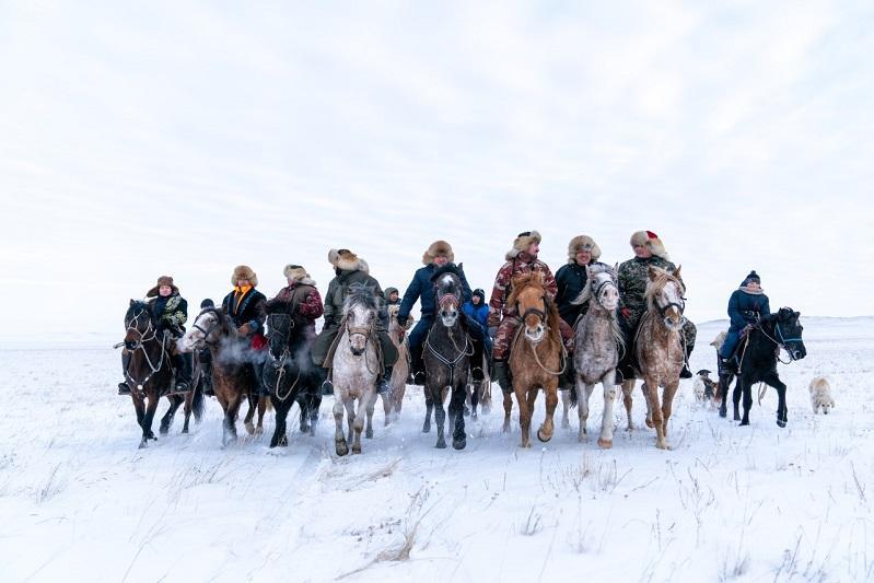Конный поход в честь Бухар жырау и академика Сатпаева совершили в Павлодарской области