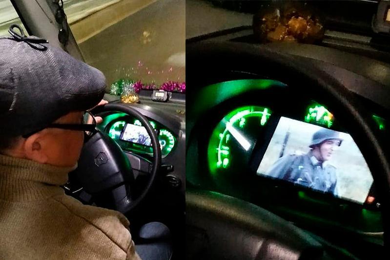 В Павлодаре водитель маршрутки за рулём смотрел кино