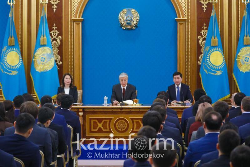 Kassym-Jomart Tokayev meets Presidential Youth Candidate Pool reps