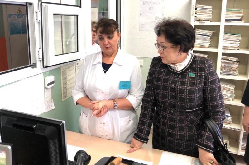 Сенатор ознакомилась с деятельностью социально значимых объектов в Акмолинской области