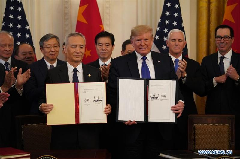 China, U.S. sign phase-one trade deal