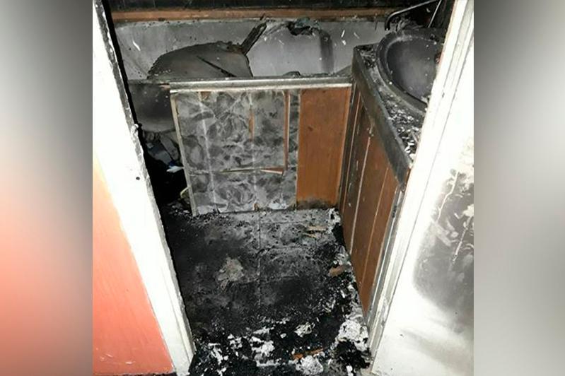Из-за сгоревшей стиральной машины пришлось эвакуировать жильцов дома в Усть-Каменогорске
