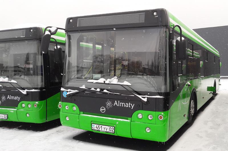 Очередная партия новых автобусов вышла на улицы Алматы
