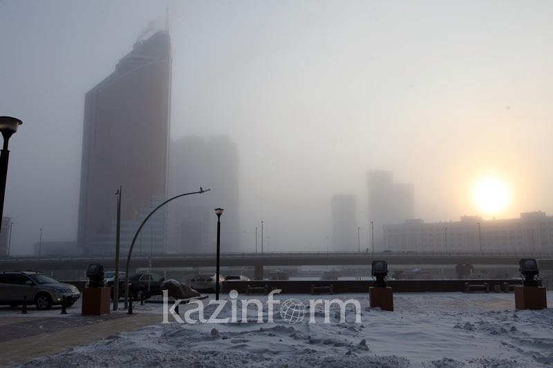 Туман, метель, ветер: штормовое предупреждение объявили в четырех регионах РК