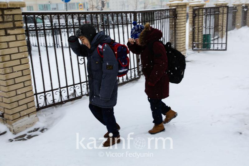 Занятия для школьников 0-4 классов первой смены отменены в Нур-Султане