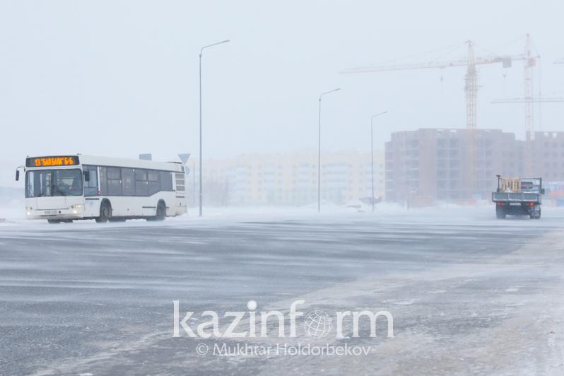 Елордада қала маңына қатынайтын 20 автобустың қозғалысы тоқтатылды
