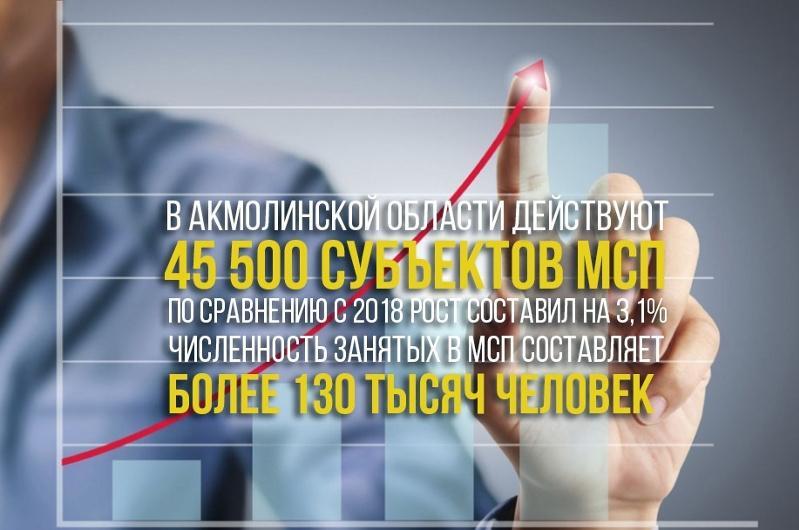 В Акмолинской области сфера малого и среднего бизнеса занимает прочные позиции