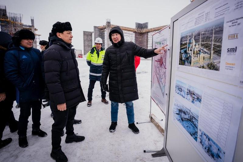 Mayor of Nur-Sultan inspects construction of new mosque