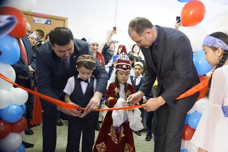 Kazakh language classroom opened in Russian school