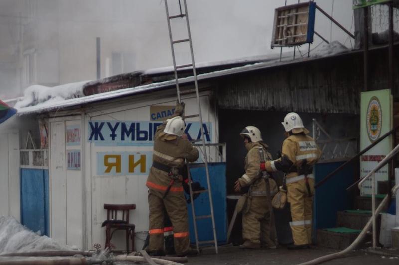 Пожар вспыхнул в одном из торговых домов Талдыкоргана: пострадала женщина