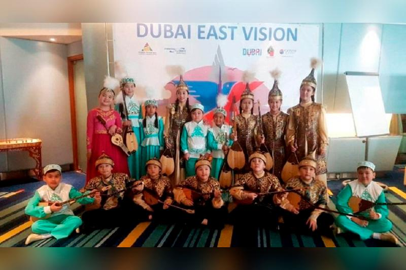Kazakh young dombra players win big at Dubai East Vision