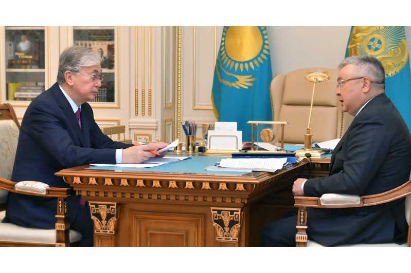 总统接见最高法院理事会主席多纳科夫