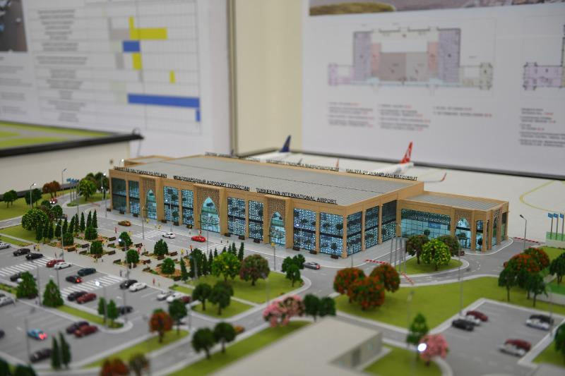 Как будет выглядеть аэропорт в Туркестане