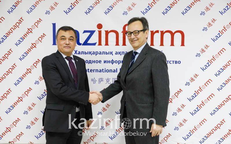 哈萨克国际通讯社与意大利安莎通讯社签署合作备忘录