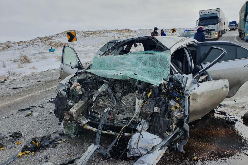 Три гражданина Таджикистана погибли в аварии в Актюбинской области