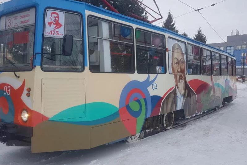 Посвященный Абаю трамвай появился в Усть-Каменогорске