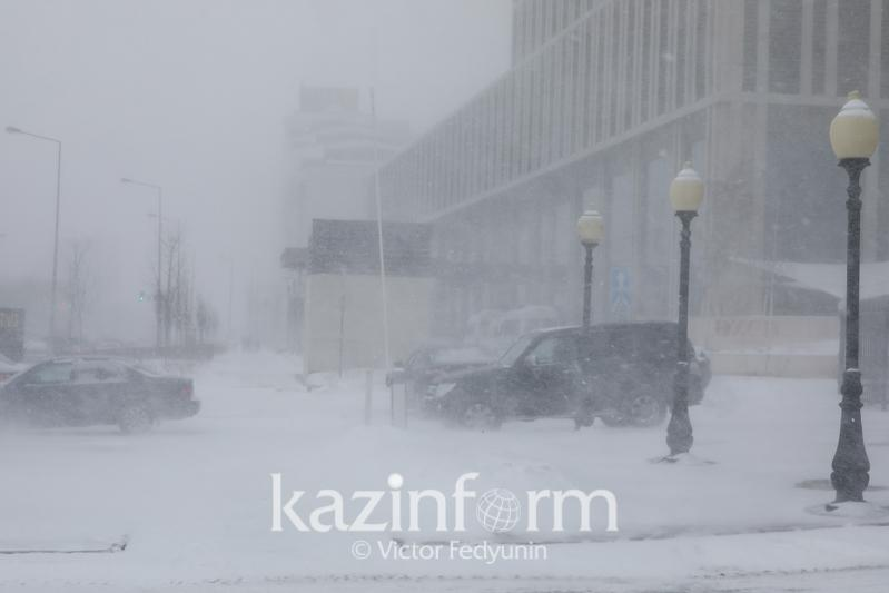 Snowstorms, fog and black ice to linger for one more day across Kazakhstan