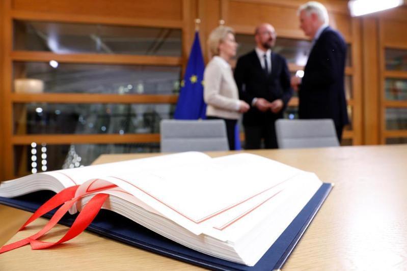 Соглашение о выходе Великобритании из ЕС подписали в Брюсселе