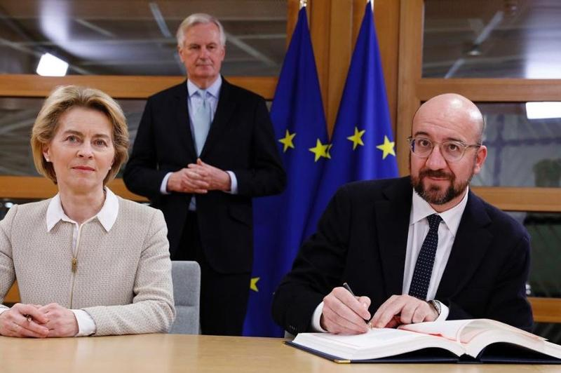 Heads of European Council, European Commission sign Brexit deal