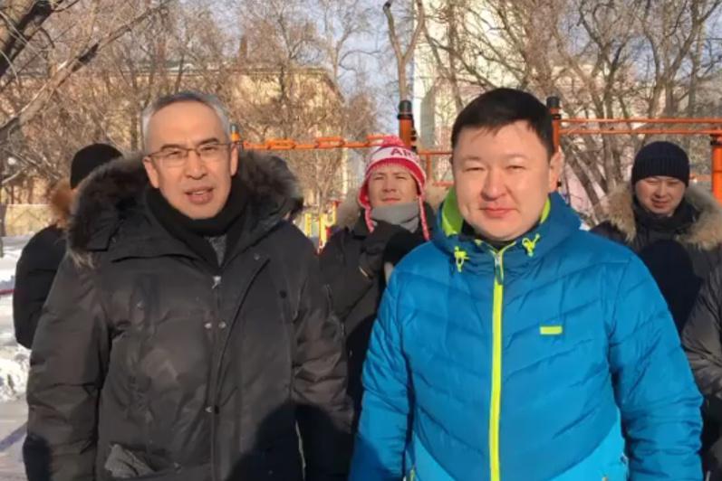 #БiзБіргеміз: акмолинцы поддержали челлендж по уборке снега