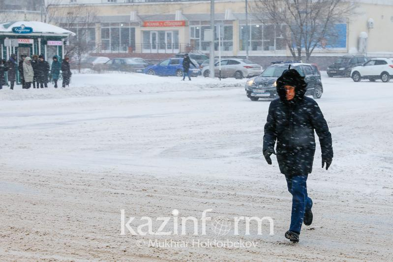 Snowfall to persist across Kazakhstan on Sunday
