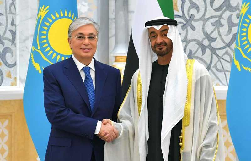 Касым-Жомарт Токаев провел переговоры с наследным принцем Абу-Даби