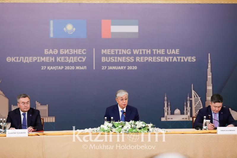 Казахстан и ОАЭ намерены реализовать инвестпроекты на 11 млрд долларов