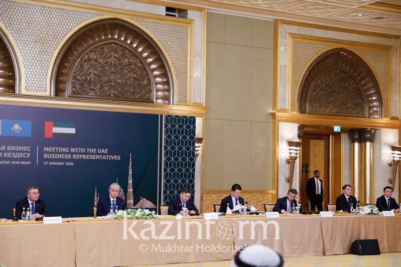 Касым-Жомарт Токаев предложил бизнесменам ОАЭ совместно развивать туризм в Казахстане