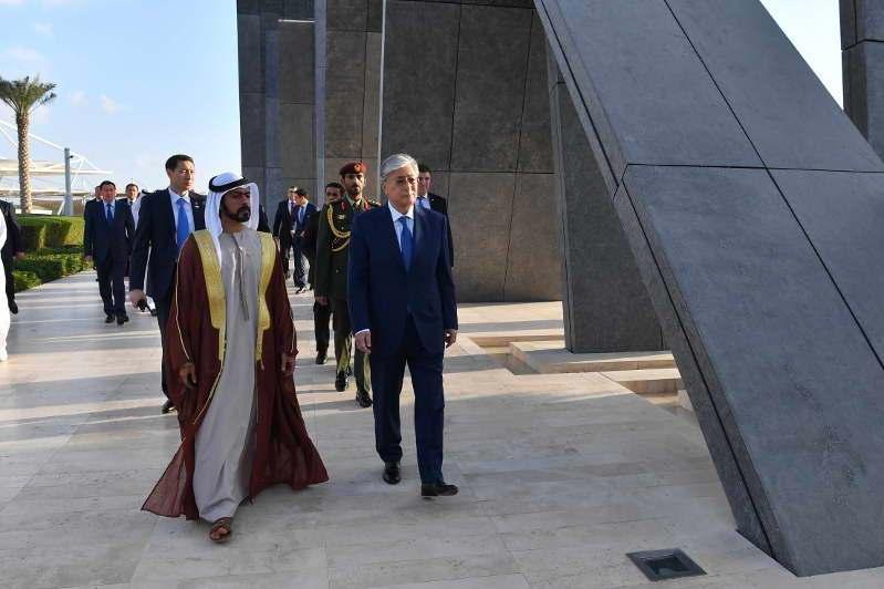 托卡耶夫总统访问Wahat Al Karama纪念碑