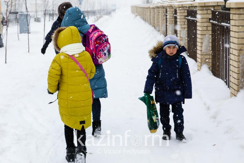 Bitter frosts cancel classes in Kazakh capital