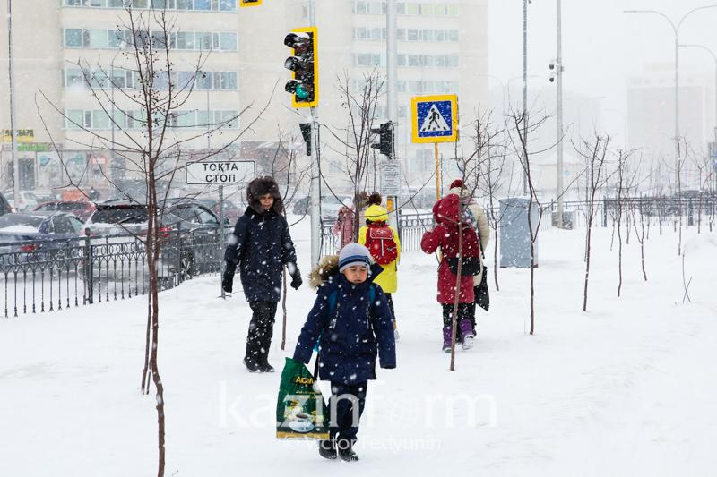 Classes suspended in Kazakh capital due to poor weather conditions