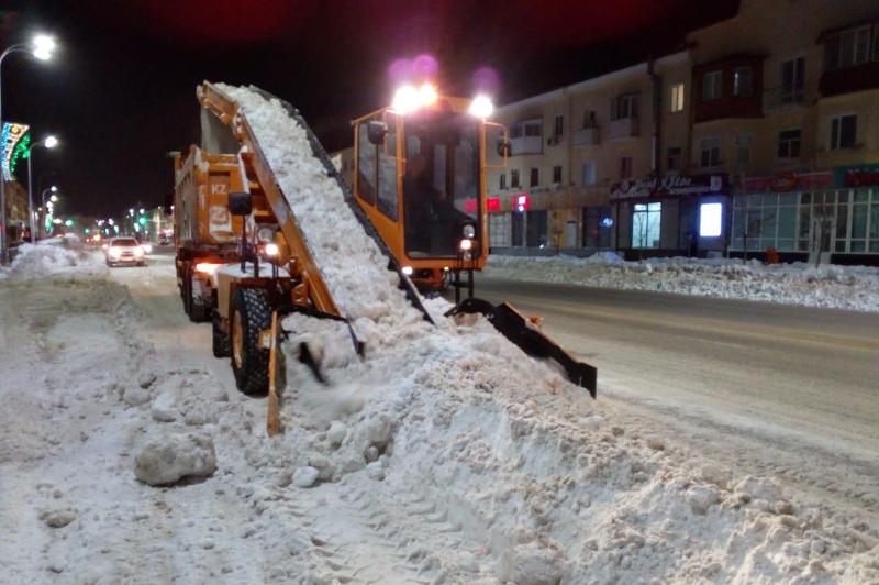 Более 28 тысяч кубометров снега вывезено на полигоны минувшей ночью в Нур-Султане