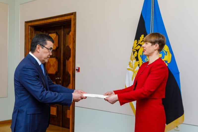 Қазақстан елшісі Эстония Президентіне сенім грамоталарын тапсырды
