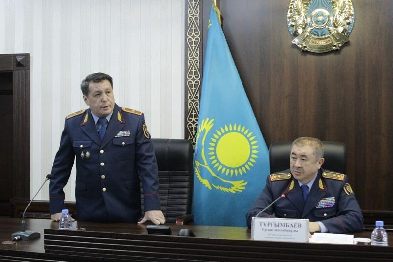 Назначен новый начальник Департамента полиции Жамбылской области