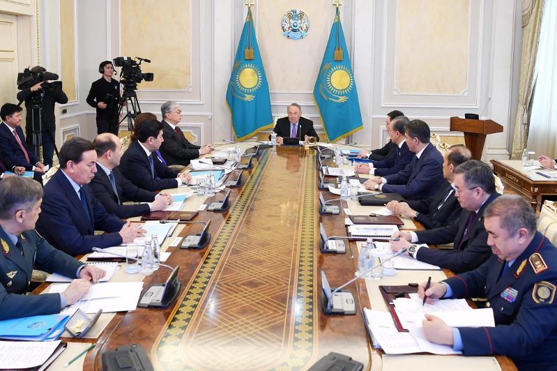 Нұрсұлтан Назарбаев Қордай оқиғасына байланысты Қауіпсіздік Кеңесінің отырысын өткізді