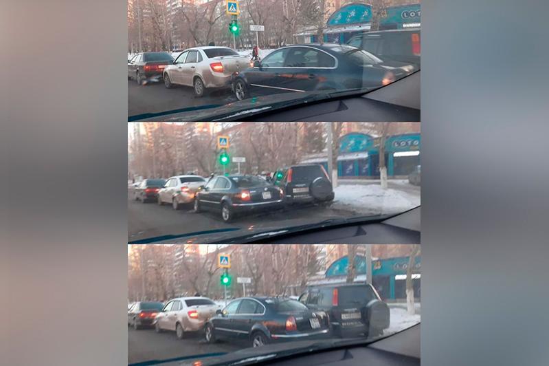 ДТП с участием 4 машин произошло в Павлодаре