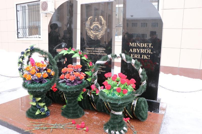 Обелиск погибшим полицейским открыли в Рудном
