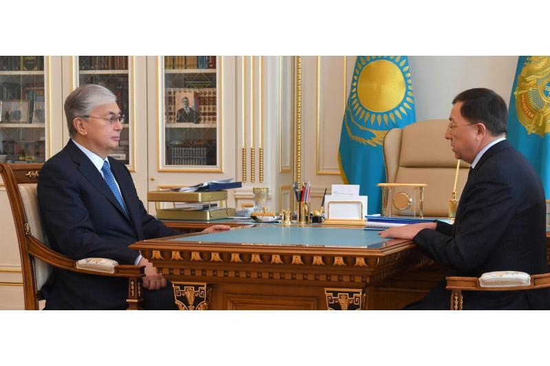 Касым-Жомарт Токаев принял зампреда Ассамблеи народа Казахстана Жансеита Туймебаева